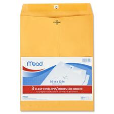 MEA 76014 Mead Heavyweight Brown Kraft Clasp Envelopes MEA76014
