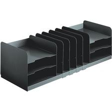 "MMF Jumbo Horizontal/Vertical Desktop Organizer - 11 Compartment(s) - 8.1"" Height x 30"" Width x 11"" Depth - Desktop - Recycled - Black - Steel - 1Each"
