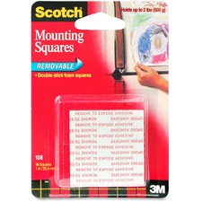 MMM 108 3M Scotch Double-stick Foam Mounting Squares MMM108