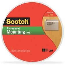 MMM 401612 3M Scotch Double-Coated Foam Mounting Tape MMM401612