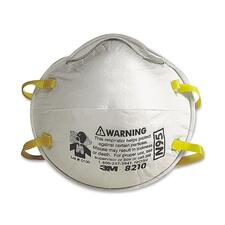 3M Particulate Respirator Mask - Polyester, Aluminum, Thermoplastic, Polypropylene, Foam - 20 / Box - White