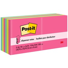 """Post-it® Pop-up Notes, 3""""x 3"""", Cape Town Collection - 1200 - 3"""" x 3"""" - Square - 100 Sheets per Pad - Unruled - Assorted - Paper - Pop-up, Self-adhesive, Repositionable - 12 / Pack"""