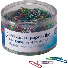 OIC 97211 Officemate Translucent Vinyl Paper Clips OIC97211