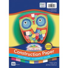 PAC 6503 Pacon SunWorks Groundwood Construction Paper PAC6503
