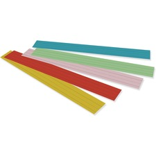 "Rainbow Kraft Sentence Strips - 3""H x 24""W - Dual-Sided - 1.5"" Rule/Single Line Rule - 100 Strips/Pack - 5 Assorted Colors"