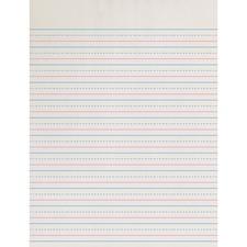 PAC ZP2613 Pacon Zaner-Bloser Broken Midline Ruled Paper PACZP2613