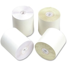 PMC 09225 PM Company 2-ply White/Canary Carbonless Rolls PMC09225