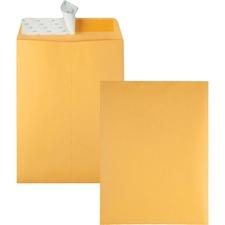 "Quality Park Redi-Strip Kraft Catalog Envelopes - Catalog - #10 1/2 - 9"" Width x 12"" Length - 28 lb - Self-sealing - Kraft - 100 / Box - Kraft"