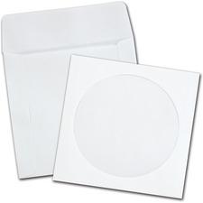 "Quality Park CD Sleeve - 5\"" x 4.87\"" - 24lb - Wove - 100 / Box - White"