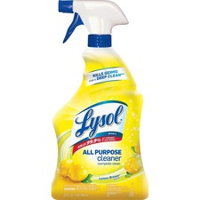 Lysol Lemon All Purpose Cleaner - Spray - 0.25 gal (32 fl oz) - Lemon Breeze Scent - 1 Each - Yellow