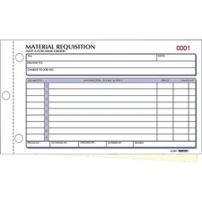 RED 1L114 Rediform Material Requisition Purchasing Forms RED1L114
