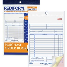 RED 1L141 Rediform 3-Part Carbonless Purchase Order Book RED1L141