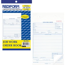 RED 4L456 Rediform 2-part Job Work Order Book RED4L456