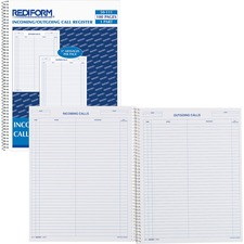 RED 50111 Rediform Incoming/Outgoing Call Register Book RED50111