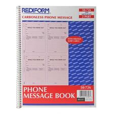RED 50726 Rediform Alert Labels WYWO Telephone Message Book RED50726