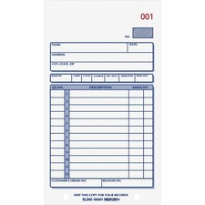 RED 5L240 Rediform Carbonless 2-part Sales Book Forms RED5L240