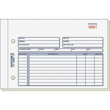 RED 7L721 Rediform 2-Part Carbonless Invoice Form  RED7L721