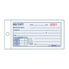 RED 8L820 Rediform Money Receipt 2/Part Collection Forms RED8L820