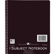 ROA 12010 Roaring Spring 1-Subject Spiralbound Notebook ROA12010