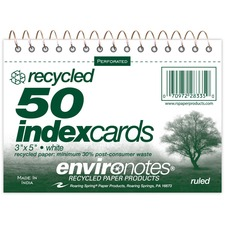 ROA 28335 Roaring Spring Spiralbound Ruled Index Cards ROA28335