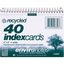 ROA 28346 Roaring Spring Spiralbound Ruled Index Cards ROA28346