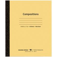 ROA 77308 Roaring Spring Plain Cover Tapebound Comp Notebook ROA77308