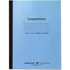 ROA 77501 Roaring Spring Wide Rule Composition Notebook ROA77501