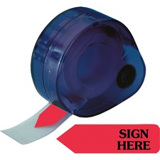 RTG 81024 Redi-Tag Sign Here Removable Flags In Dispenser RTG81024