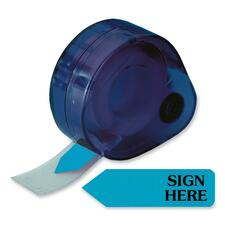 RTG 81034 Redi-Tag Sign Here Removable Flags In Dispenser RTG81034
