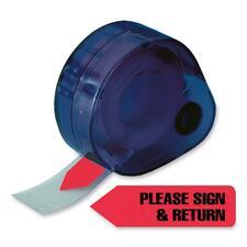 RTG 81344 Redi-Tag Please Sign & Return Flags In Dispenser RTG81344