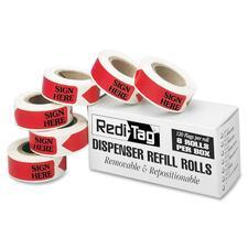 RTG 91002 Redi-Tag Sign Here Arrow Flags Dispenser Refills RTG91002