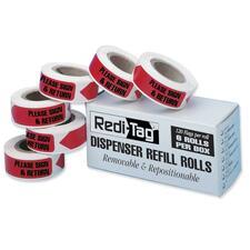 RTG 91037 Redi-Tag Sign/Return Refill Flags RTG91037