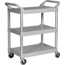 RCP 342488PM Rubbermaid Comm. Swivel Casters Utility Cart RCP342488PM