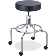 SAF 3433BL Safco Screw Lift Stool with High Base SAF3433BL