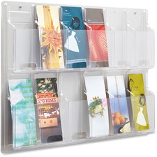 SAF 5604CL Safco 12 Pamphlet Pocket Display Rack SAF5604CL