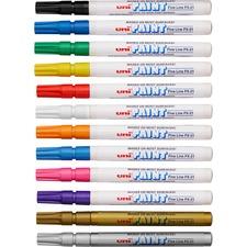 SAN 63721 Sanford Oil-Base Fine Line uni Paint Markers SAN63721