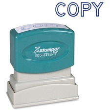 "Xstamper COPY Title Stamp - Message Stamp - ""COPY"" - 0.50"" Impression Width x 1.63"" Impression Length - 100000 Impression(s) - Blue - Recycled - 1 Each"