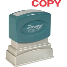 "Xstamper COPY Title Stamps - Message Stamp - ""COPY"" - 0.50"" Impression Width x 1.62"" Impression Length - 100000 Impression(s) - Red - Recycled - 1 Each"