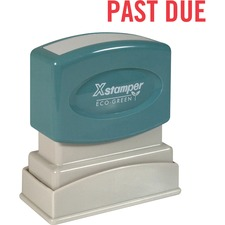 """Xstamper PAST DUE Title Stamp - Message Stamp - """"PAST DUE"""" - 0.50"""" Impression Width x 1.62"""" Impression Length - 100000 Impression(s) - Red - Recycled - 1 Each"""