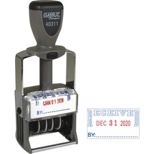 XST 40311 Xstamper Heavy-Duty Self-Inking Message Date Stamp XST40311