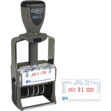 XST 40312 Xstamper Heavy-duty PAID Self-Inking Dater XST40312