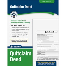 ABF LF298 Adams Quitclaim Deed Set ABFLF298