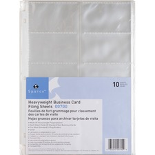 SPR 00700 Sparco 3 Ring Business Card Sleeves SPR00700