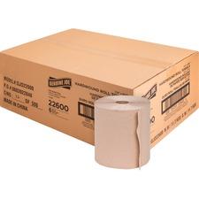 "Genuine Joe Embossed Hardwound Roll Towels - 7.90"" x 800 ft - Natural - Absorbent, Chlorine-free - For Restroom - 6 / Carton"