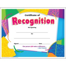 TEP T2965 Trend Certificate of Recognition TEPT2965