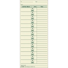 TOPS 1290 Time Card
