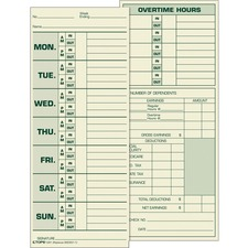 TOPS 1291 Time Card