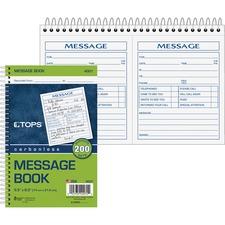 TOP 4007 Tops 2 Calls Per Page Phone Message Book TOP4007