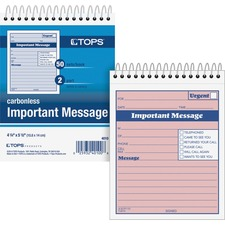 TOP 4010 Tops 1CPP Duplicate Important Message Book TOP4010