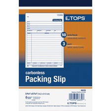 TOP 46639 Tops 3-Part Packing Slip Book TOP46639